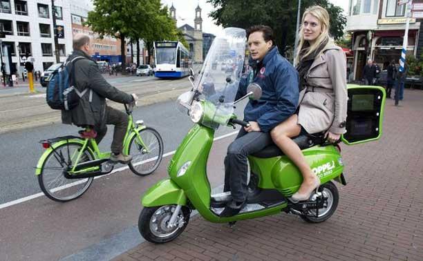 Hopper scooter, Amsterdam
